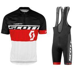 Scott Bikes Canada - Crossrider Summer 2017 Scott Cycling Jersey Red White Team Bike Wear Clothes Mtb Ropa Ciclismo Pro Cycling Clothing Mens Short Bib Sets 01