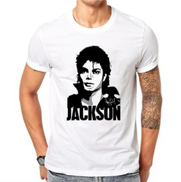 $enCountryForm.capitalKeyWord NZ - 100% Cotton Simple Michael Jackson Design Men T-shirt Star Partten Male Cool Tops Hipster Style Short Sleeve Casual Tee T Shirts