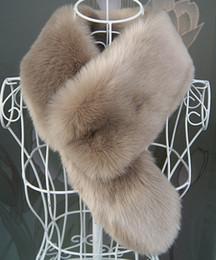 Soft Fur Scarf Australia - Winter faux fur collar rex rabbit fur collar warm soft scarf unisex fur scarf with tails D19011004