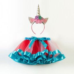 $enCountryForm.capitalKeyWord Australia - Princess Tutu Puffy Skirt With Hair Accessories INS Dress Costume Girls Bubble Bust Skirt Party Communion Gowns 3 Pieces ePacket