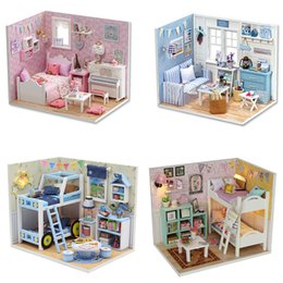 $enCountryForm.capitalKeyWord Australia - DIY Doll House Furniture DIY Miniature Dust Cover 3D Wooden Miniaturas Dollhouse Toys for Christmas Gift H015 H016 M019 M020