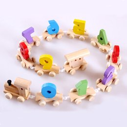 montessori math materials Australia - Montessori Materials Educational Wooden Toys for Children Early Learning Preschool Teaching Geometric Shapes Math Train Toy