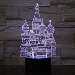 $enCountryForm.capitalKeyWord Australia - Castles 3D Optical LED Lamp Illusion Light Panel Gift Decoration Battery Bin DC 5V USB Powered Factory Wholesale