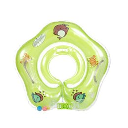 Hose Bath UK - New Baby Drop Neck Float Swim Ring Inflatable Big Dolphin Safety Swimming Hose Ring Inflatable Bath Accessories
