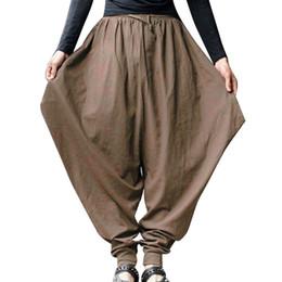 Baggy jersey pants online shopping - MoneRffi New Hip Hop Baggy Wide Crotch Harem Pants Men Women Plus Size Wide Leg Trousers New Casual Loose Pants Cross pants