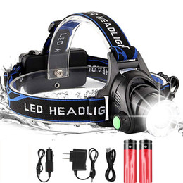 battery led strobe lights Australia - 2000lums LED Headlight XML-T6 Zoom Led Headlamp Torch Flashlight Head lamp use 2*18650 battery for Bicycle light get gift