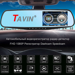 camera rearview mirror full hd NZ - TAVIN Russia 3 in1 Car dvr Rearview mirror Dash cam Video Recorder Full HD 1080P Camera auto Dual lens