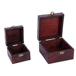 vintage wood jewelry box UK - Hot Sale Multi Vintage Jewelry Necklace Bracelet Gifts Box Storage Organizer Wooden Cases