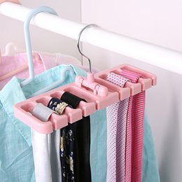 Bra Storage Organizers Australia - New Storage Rack Tie Belt Organizer Space Saver Rotating Scarf Ties Hanger Holder Hook Closet Tank Tops Bra Belts Bag