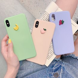 $enCountryForm.capitalKeyWord NZ - Fruit Phone Cases For iPhone 6 6s 7 8 Plus X Xs Max XR Dirt-resistant Drop-resistant Anti-scratch Liquid Silicone Attractive Shell Covers