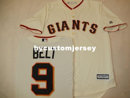$enCountryForm.capitalKeyWord Australia - Cheap custom MENS MAJESTIC #9 BRANDON BELT Baseball JERSEY CREME Mens stitched jerseys Big And Tall SIZE XS-6XL For sale