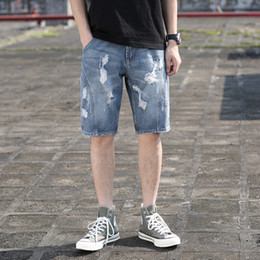 $enCountryForm.capitalKeyWord Australia - Mens Ripped Short Jeans Brand Clothing Cotton Shorts Breathable Denim Shorts Male Wash Ripped Jeans Size 28-42