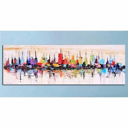 $enCountryForm.capitalKeyWord Australia - wholesale Full Square Diamond Painting Embroidery New York City Picture of Rhinestone abstract Modern pattern mosaic Home Decoration
