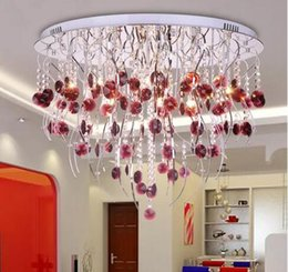 $enCountryForm.capitalKeyWord NZ - Post-Modern Creative K9 Crystal Chadelier Willow twig LED Ceiling Lamp Wine red Crystal Chandelier Living Room Hotel Lamp MYY