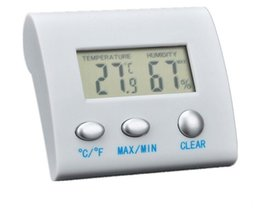 $enCountryForm.capitalKeyWord Australia - New LCD Digital Electronic Hygrometer Humidity Thermometer Temperature Meter Tester Clock Home Indoor Use Wireless Termometro