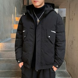 Casual Coat designs for men online shopping - Mens Winter Coats for Winter Warm Parkas with Colors Fashion Letter Printing Winter Outerwears Hot Sale Asian Size M XL
