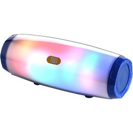 China TG165 portable wireless bluetooth speaker led flash music mp3 player super bass waterproof subwoofer SD card player with mic 1200mah DHL suppliers