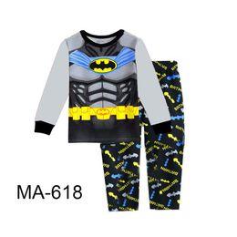 96ca58c90c Venta al por mayor Boys Super Heros Pijamas Conjuntos 2019 Niños de Dibujos  Animados Pijamas Niños Primavera Pijamas Conjuntos Para 2-7Y MA-618
