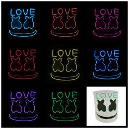 $enCountryForm.capitalKeyWord Australia - MarshMello DJ Mask Full Head Helmet Halloween Cosplay Mask Bar Music Props LED light hood LOVE flash