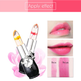$enCountryForm.capitalKeyWord NZ - Moisturizer Long-lasting Jelly Flower Lipstick Makeup Temperature Changed Colorful Lip Blam Pink Transparent Beauty Makeup