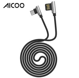 Lightning cabLe retaiL online shopping - AICOO U42 Exquisite Steel Double Elbow Charging Data Cable HOCO m TPE Embossing Charging Line for i7 Micro USB Type C Retail Package