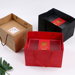$enCountryForm.capitalKeyWord Australia - Wedding Favor Party Gift Bag With Handle Chocolate Cookies Candy Packaging Bags Christmas New Year Shopping Package Bags