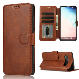 $enCountryForm.capitalKeyWord Australia - For Samsung S10 S10E S10PLUS Huawei P30 Luxury Leather Wallet Flip Phone Case TPU Matte Cover With Card Slots Photo Frame Phone Holder