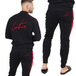 Body Fitness Suit Australia - Fashion Joggers Running Gym Clothing Men Set Autumn Winter Fitness Bodybuilding Sport wear Mens Hoodied+Pants Body Track Suit