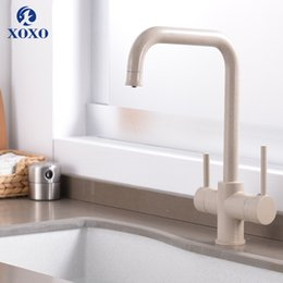 $enCountryForm.capitalKeyWord Australia - XOXO Filter Kitchen Cold and Hot Faucet Drinking Water Blcak Deck Mounted Mixer Tap Brass Pure Filter Kitchen Sinks Taps 81028