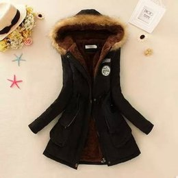 womens parkas UK - 2019 Winter Warm Coat Women Long Parkas Fashion Faux Fur Hooded Womens Overcoat Casual Cotton Padded Jacket Mutil Colors