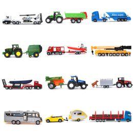Blue Truck Toy Australia - siku Diecast Car model metallic material kids toys Tank truck trailer Bus Collection decoration Toy car model
