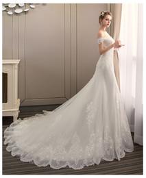 Cathedral Style Wedding Dresses Australia - real photo 2019 new style bateau neck beautiful lace wedding dress for wedding Vestido de noiva Mermaid wedding dress