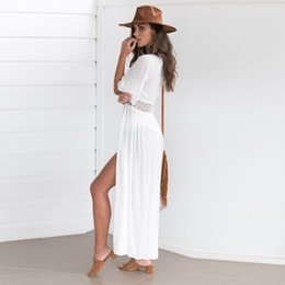d8124114e2 Sexy dress Women Bikini Swimwear Cover Up Cardigan Beach Swimsuit Ladies  robe femme party dress Summer Style vestidos
