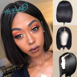 $enCountryForm.capitalKeyWord Australia - Natural looking bob short unprocessed virgin remy human hair natural color natural straight full lace wig for girl