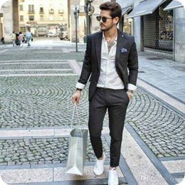 $enCountryForm.capitalKeyWord Australia - Latest Coat Pants Designs Men Business Suits Smart Casual Man Blazers Jacket Groom Wedding Tuxedos 2Piece Groomsmen Suit Costume Homme