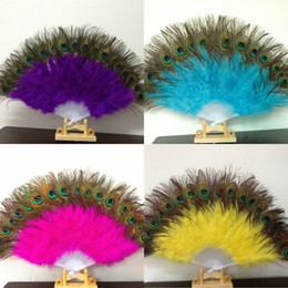 Belly dance fan dancing online shopping - Belly Dance Fan Colorful Soft Resuable Peacock Feather Fans For Carnival Party Event Decoration Supplies Top Quality ms WW