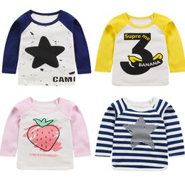 $enCountryForm.capitalKeyWord Australia - 2019 Spring New Children's T-shirt Cotton Boys and Girls Korean Long-sleeved Shirt High Quality Baby Shoulder Button Top
