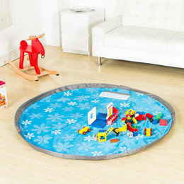 baby floor mat toys Australia - 150cm Round Kids Toy Storage Bag Portable Play Mat Lego Storage Blanket For Toy Baby Playing Floor Blanket Mat Travel Picnic MatFF0007