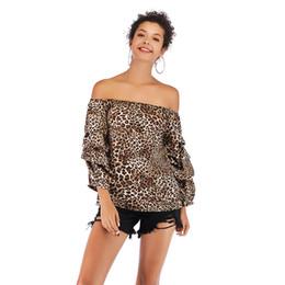 StyliSh women chiffon topS online shopping - 2019 new Women Strapless Ruffle Blouses Shirts Slash Neck Chiffon Leopard Floral Print Blouse Stylish Tops Tees Summer