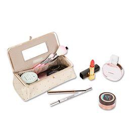 $enCountryForm.capitalKeyWord Australia - New Arrival Women Pretty Makeup Bag With Mirror Portable Lipstick Cosmetic Bag Simple Makeup Organizer Toolbox Brush Storagecase Y19052501