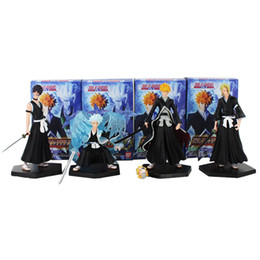 ichigo toys Canada - 4pcs lot 9-12cm BLEACH Kurosaki Ichigo Hitsugaya Toushirou PVC Figure Toys Collections Model Dolls Childr en Gifts Y200421