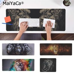 Free Mouse Games Australia - MaiYaCa Hot Sales Animal ferocious lion Silicone large small Pad to Mouse Game Free Shipping Large Mouse Pad Keyboards Mat