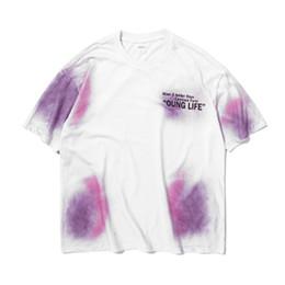 0838d5373 Black shirt dye online shopping - Tie dyed Tee fashion Summer Urban men  Loose cotton t
