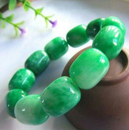 hand beads for men 2019 - Wonderful Natural Emerald Hand Chain   Jade Beads   Bracelet Men's Bracelet for Men cheap hand beads for men