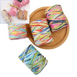 Decorative Paper Rolls Australia - 80M roll DIY Raffia Cord Rope Paper Rope For DIY Gift Box Wrapping Decorative Handmade Accessories String Craft Gift