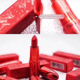 $enCountryForm.capitalKeyWord NZ - Good quality 5color Brand lucky red matte lipstick New Spring Festival lipstick lucky in love lotus light russian red ruby woo lady danger