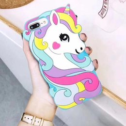 phone water skin Australia - Luxury Cute Cartoon Unicorn Phone Case for iPhone X XR XS Max 8 7 6 6S Plus 5S SE Phone Case Soft 3d Silicone Covers Hull Skin GSZ521