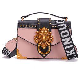 $enCountryForm.capitalKeyWord UK - EISWELT Metal Lion Head Mini Small Square Pack Shoulder Bag Crossbody Package Clutch Women Designer Wallet Handbags Bolsos Mujer w046