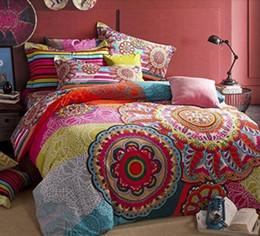 Colorful Modern Bedding NZ - Elegant European Country Style Bedding Set, Fashion Colorful Boho Style Bedding Set, Modern Bohemian Duvet Covers, 4Pcs