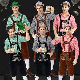 medieval cosplay men Australia - Classic Male Hansel Oktoberfest Costume Mardi Gras Cosplay Outfits Germany Carnival Theme Costume Men Bavarian Beer Overalls